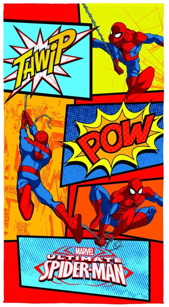 toalha infantil lepper aveludada transfer spider man ultimate