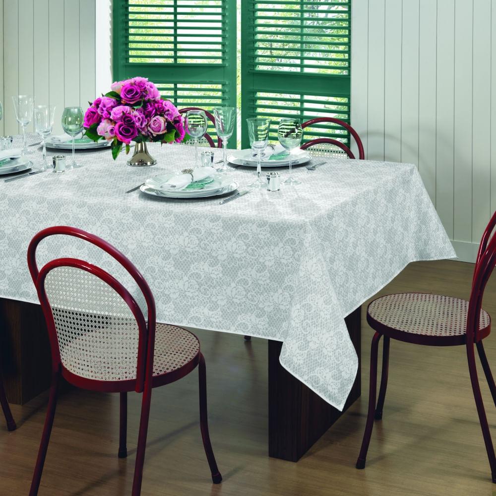 toalha de mesa lepper retangular gardenia elegance
