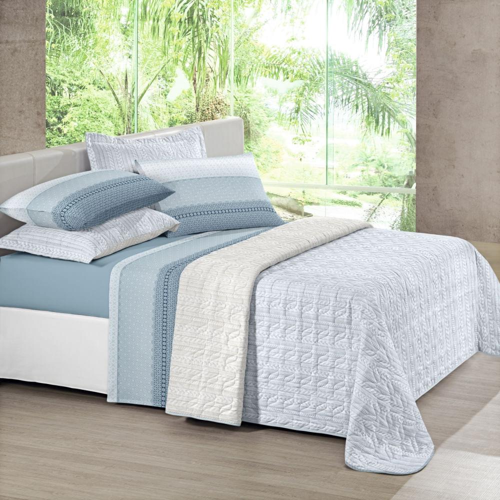 jogo de cama king santista unique 180 fios 100% algodão olivia 2