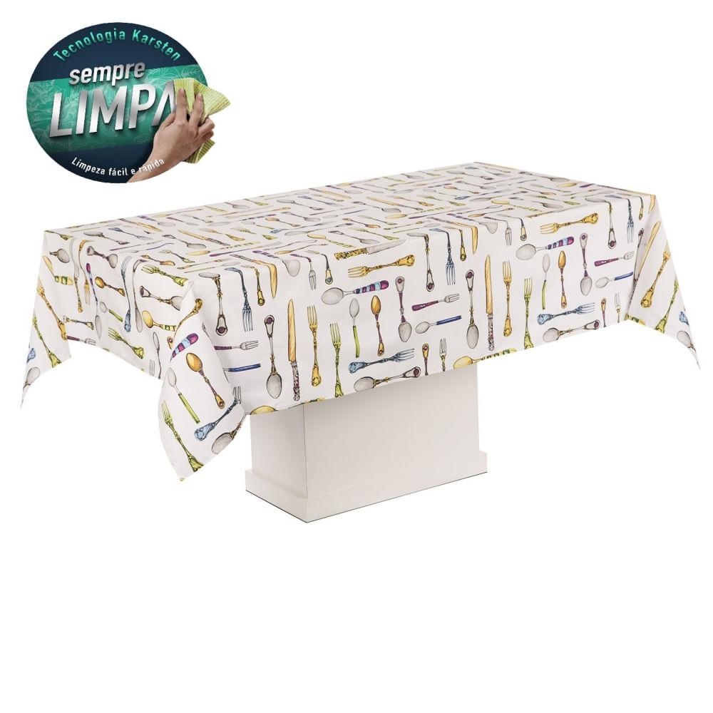 toalha de mesa karsten retangular solari