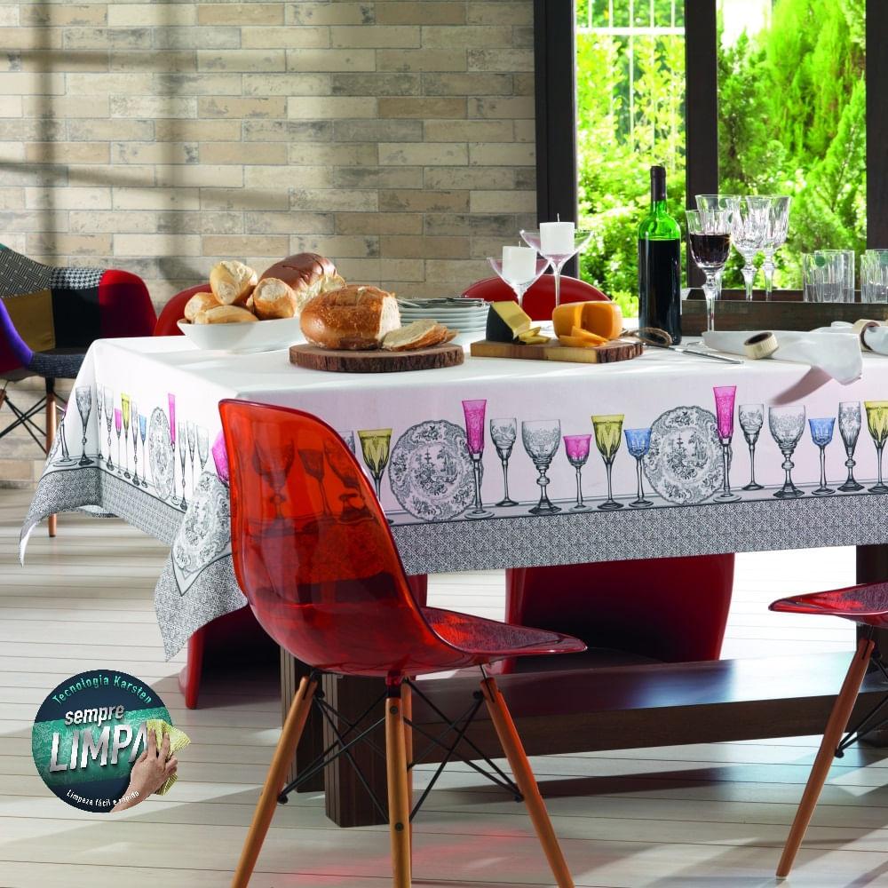 toalha de mesa karsten retangular bistrol