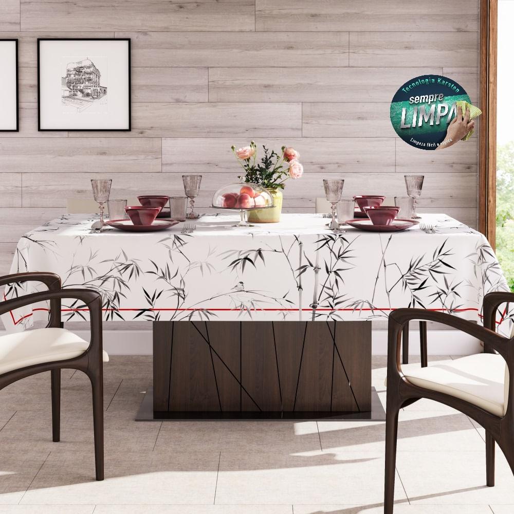 toalha de mesa karsten retangular bamboo