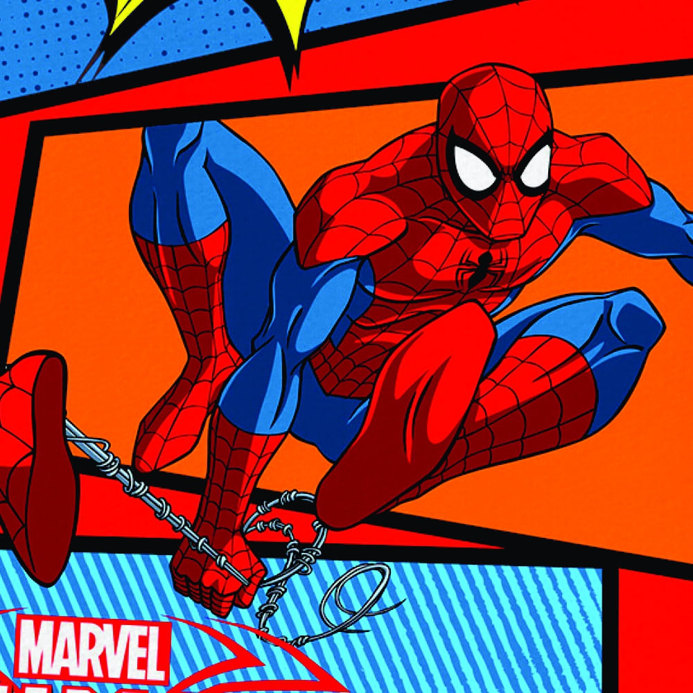 toalha infantil lepper aveludada transfer spider man ultimate