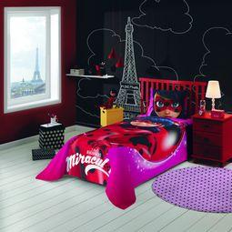9270fe9a8c jogo de cama infantil lepper 3 peças miraculous ladybug