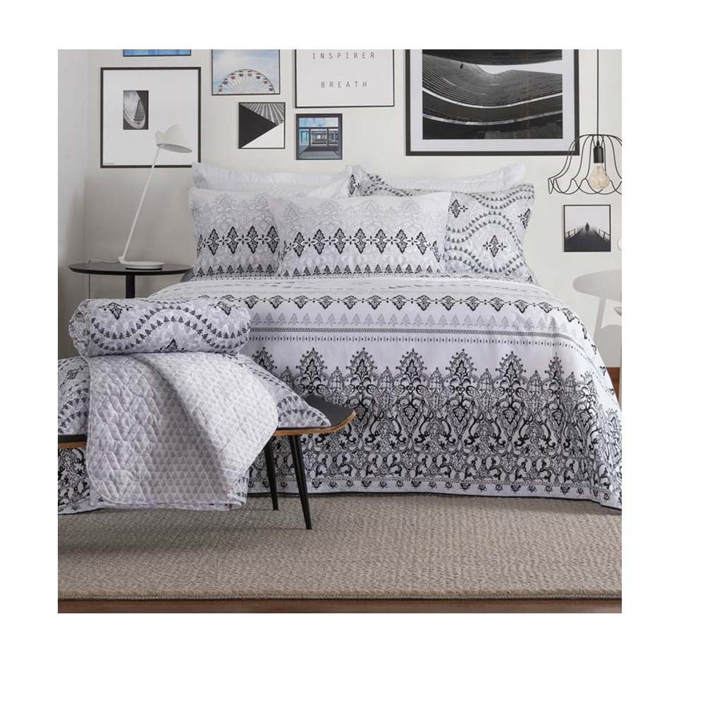 9a4f6ab1b2 jogo de cama king santista home design 100% algodão vick 1