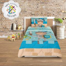 712959e896 jogo de cama infantil lepper 3 peças 100% algodão cavaleiro