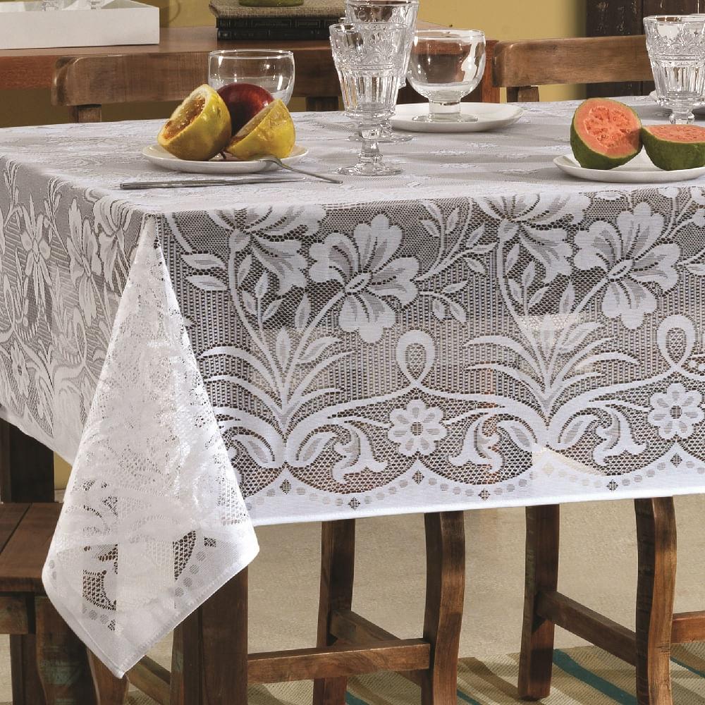 toalha de mesa lepper retangular renda realeza