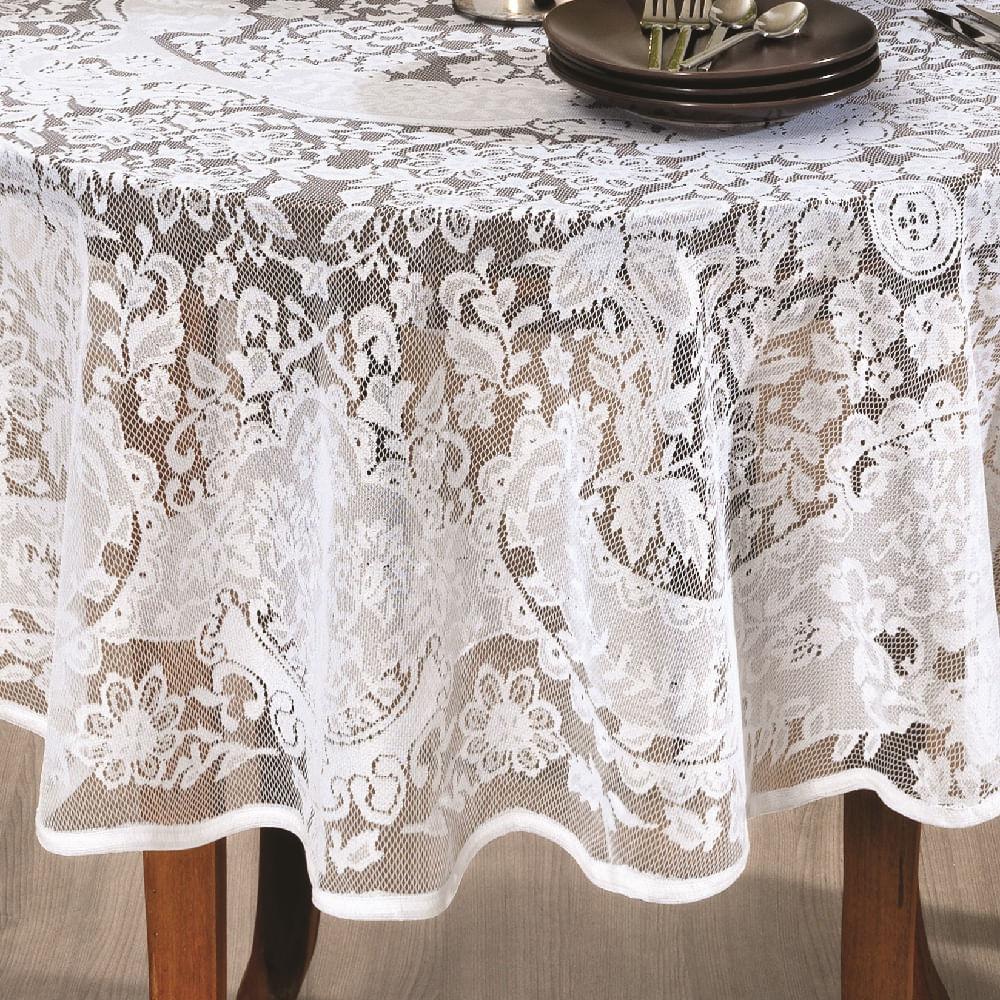 toalha de mesa lepper redonda renda alteza