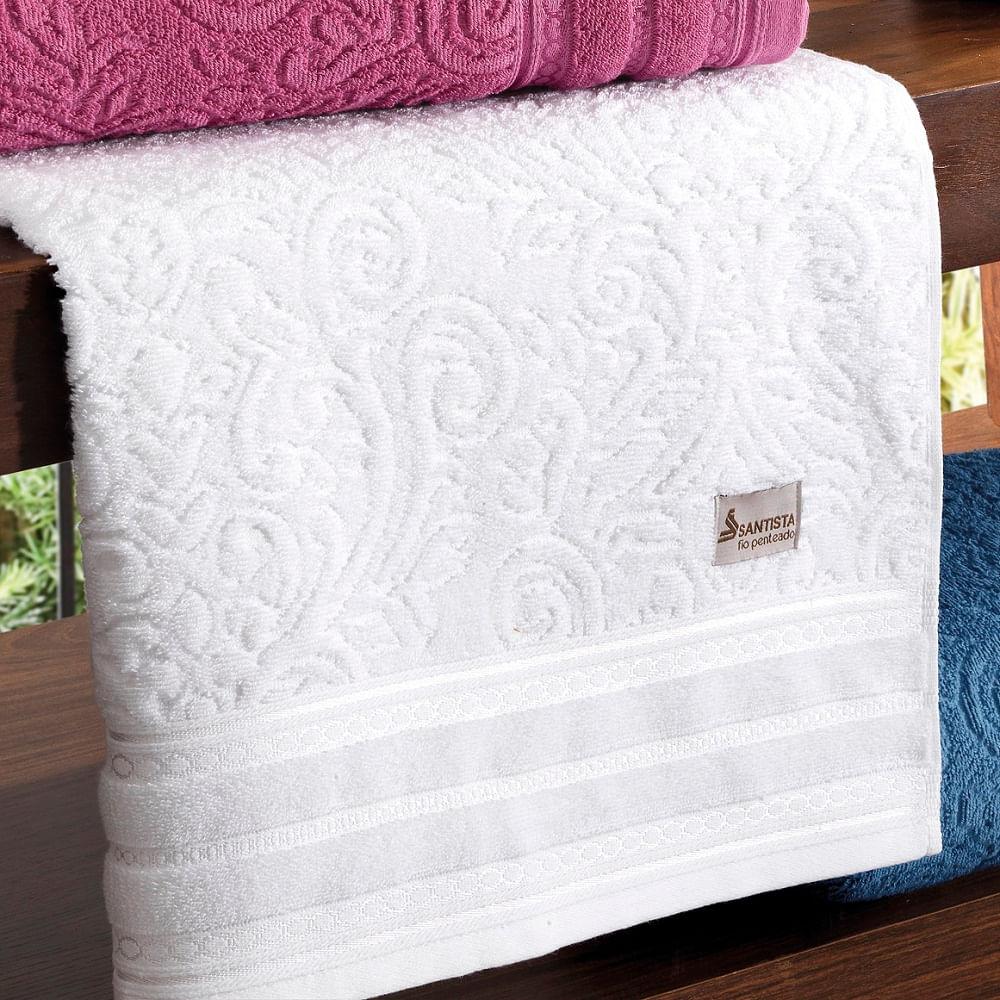 f6ea3693a toalha de banho santista 1 peças platinum liana branco