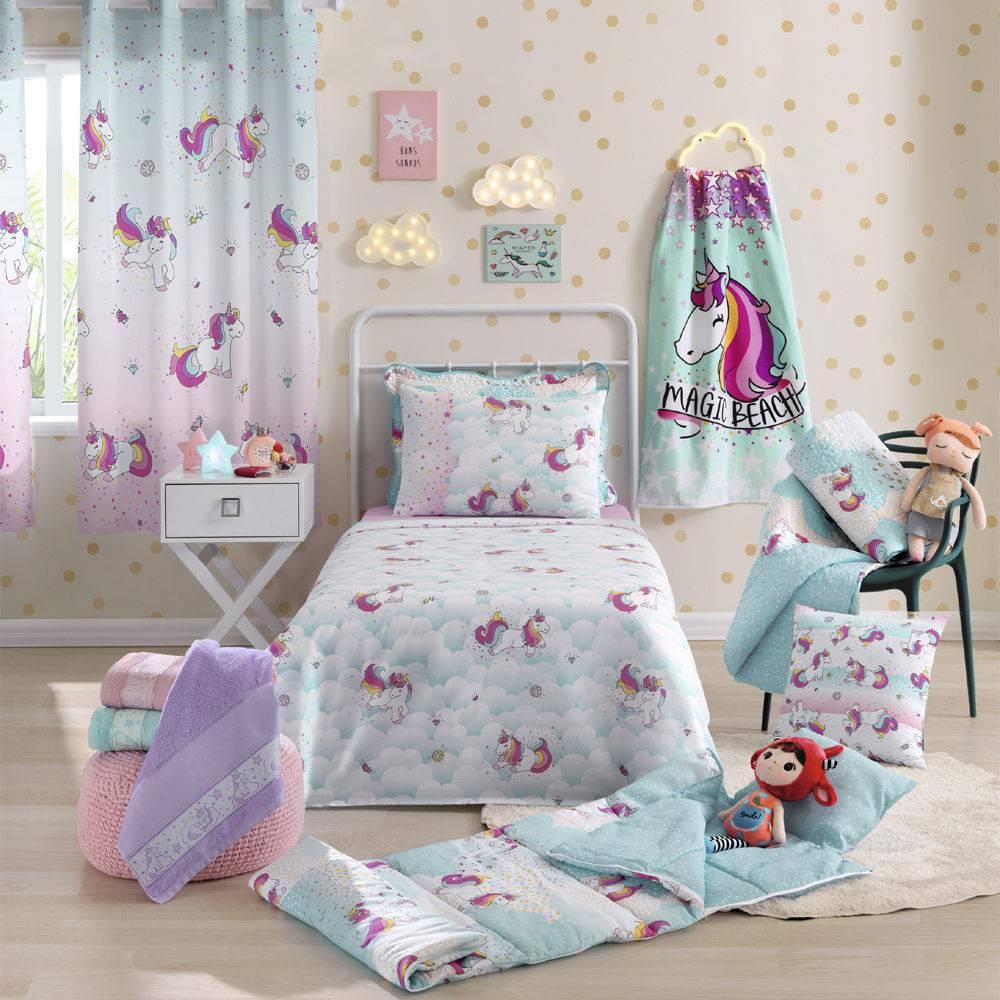 jogo de cama infantil santista 3 peças 100% algodão magic