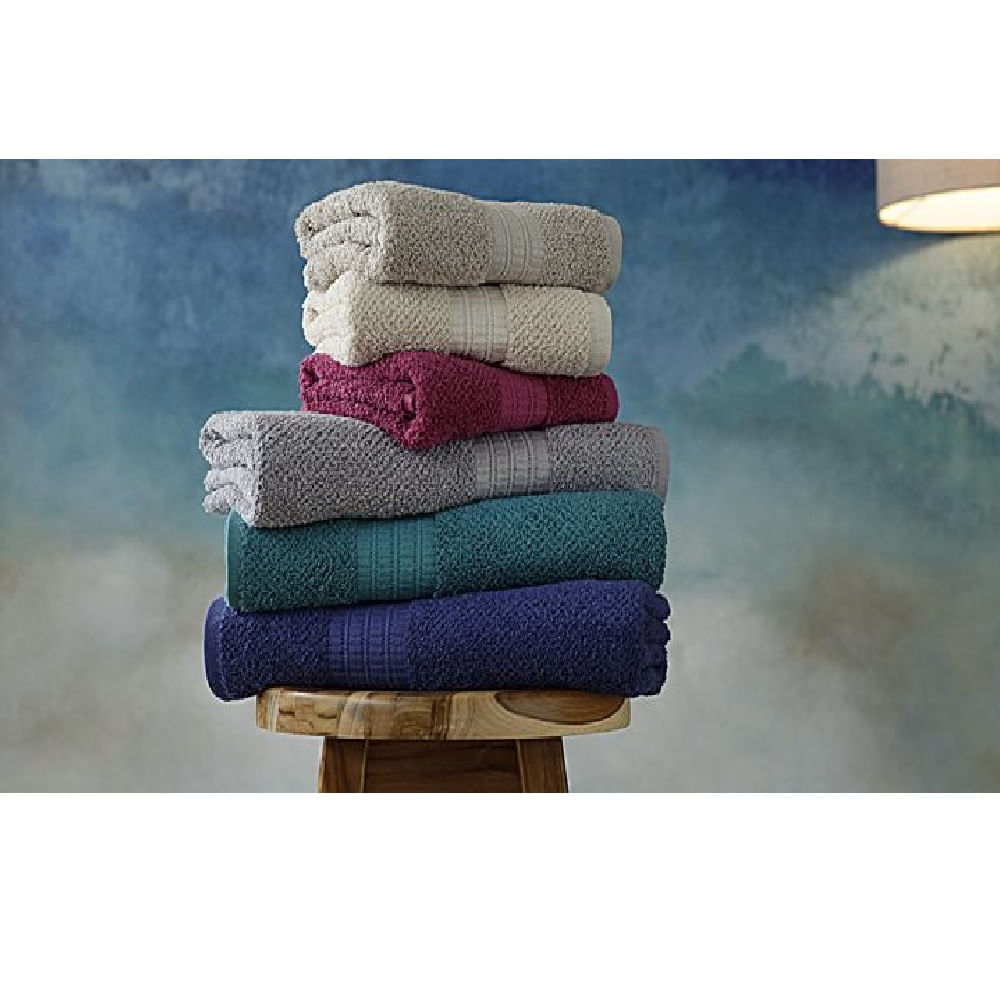 jogo de toalhas de banho buddemeyer 5 peças frape gigante branco