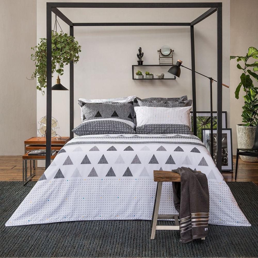 jogo de cama queen santista home design 100% algodão memphis 1