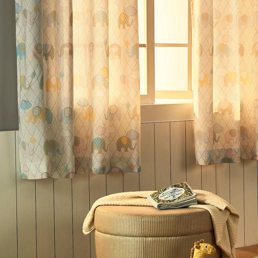 cortina santista londres basic 280x180cm estampada fofis