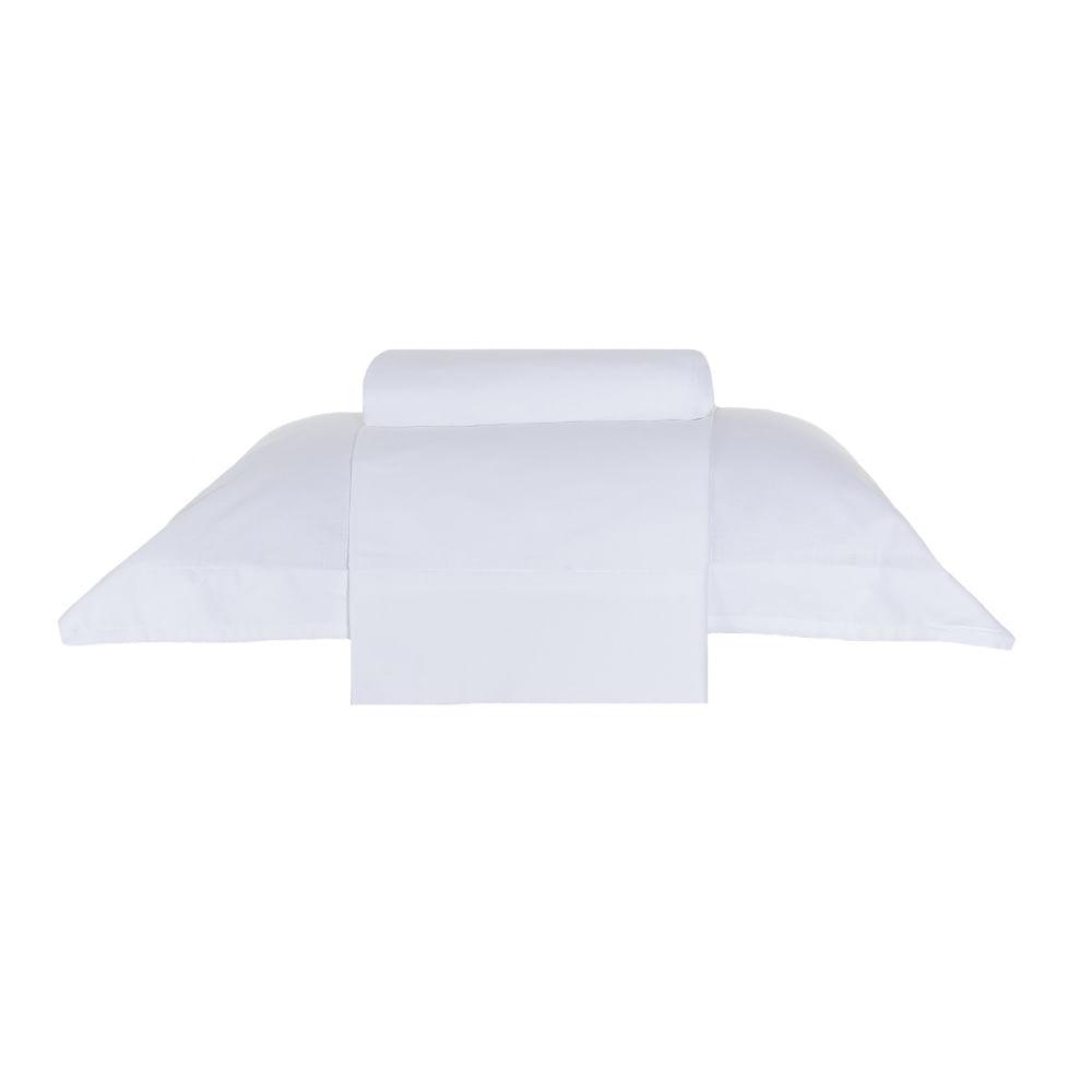 jogo de cama solteiro buddemeyer 200 fios 100% algodão basic premium branco