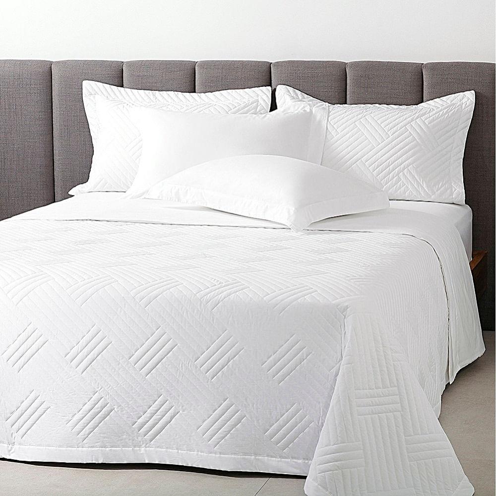 jogo de cama casal buddemeyer 200 fios 100% algodão basic premium branco
