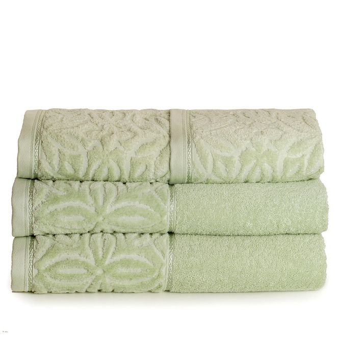 jogo toalhas banho santista 4p platinum ligia maça