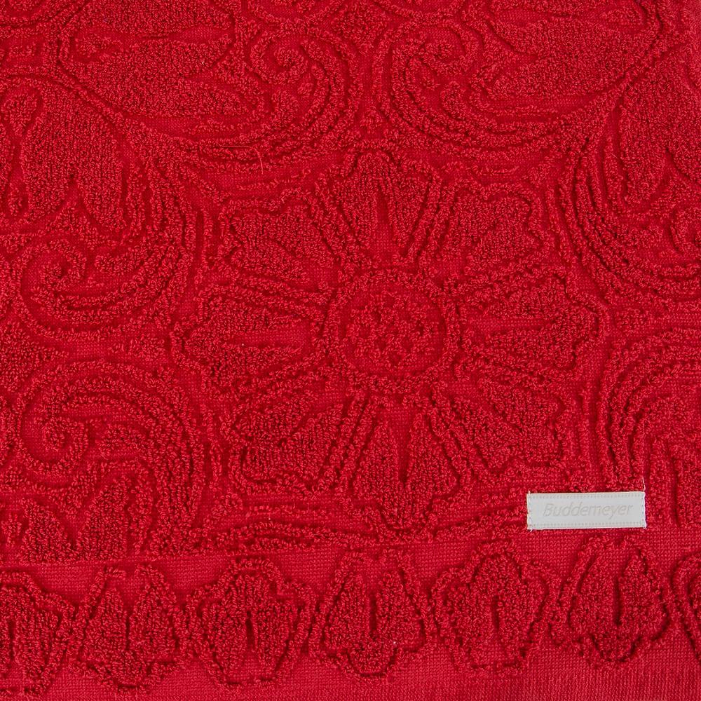 jogo de toalhas de banho buddemeyer 5 peças florentina vermelho