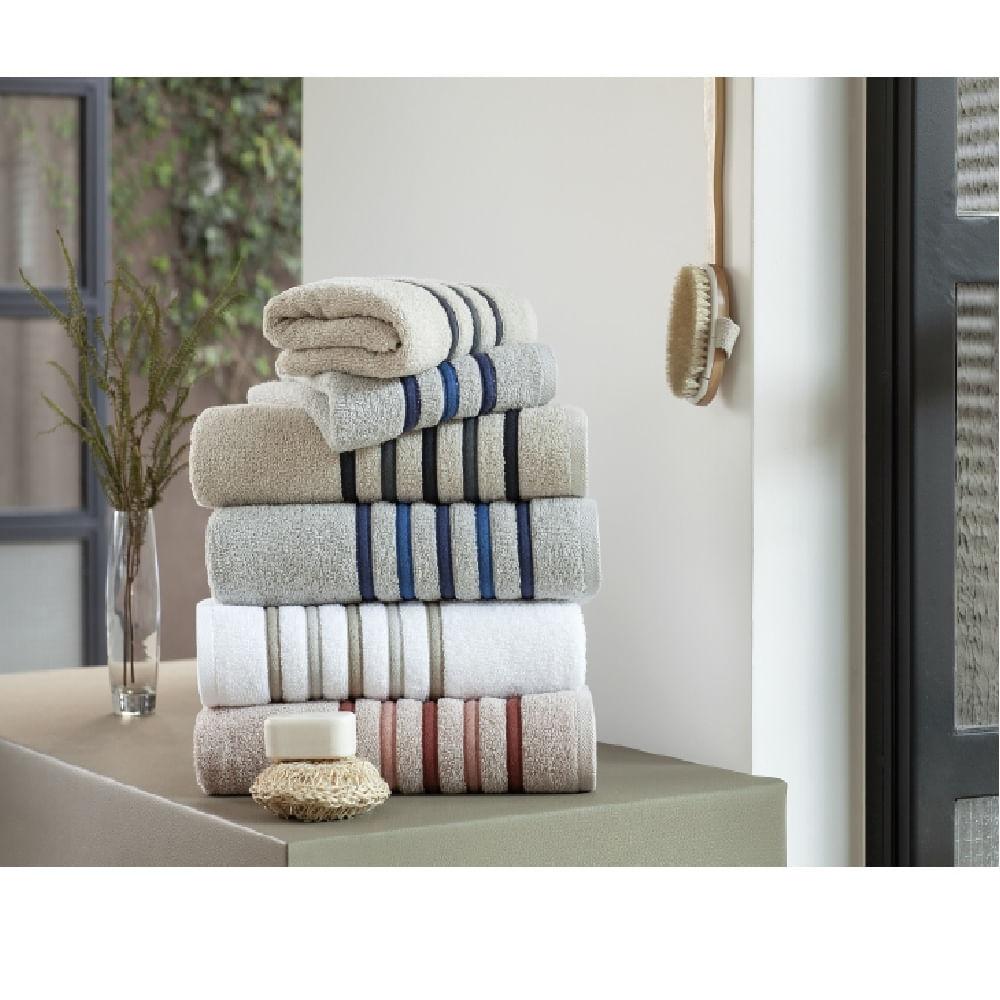 jogo de toalhas de banho buddemeyer 5 peças finesse bege