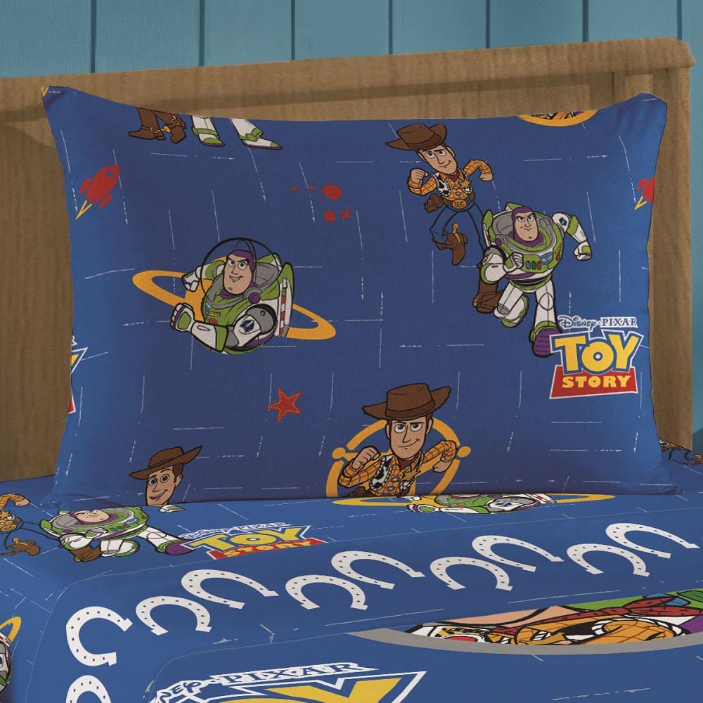 jogo de cama infantil lepper 3 peças microfibra toy story