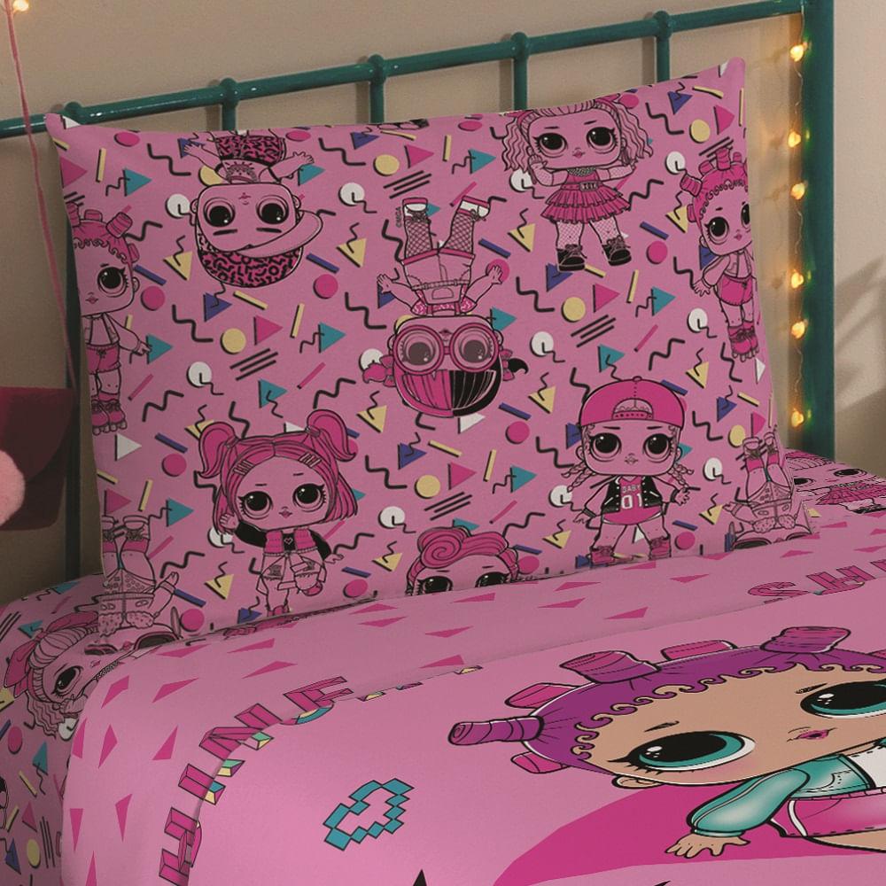 jogo de cama infantil lepper 3 peças microfibra lol