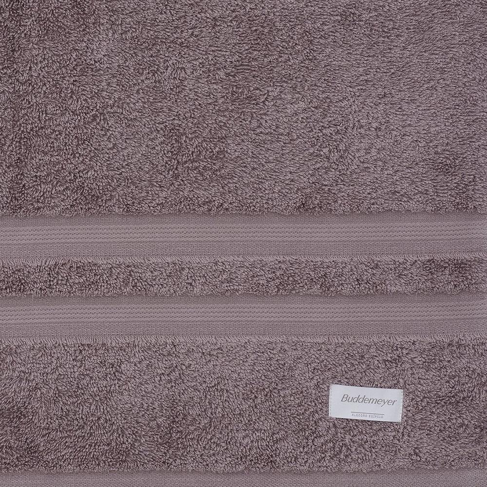 jogo de toalhas de banho buddemeyer 5 peças algodão egípcio marrom