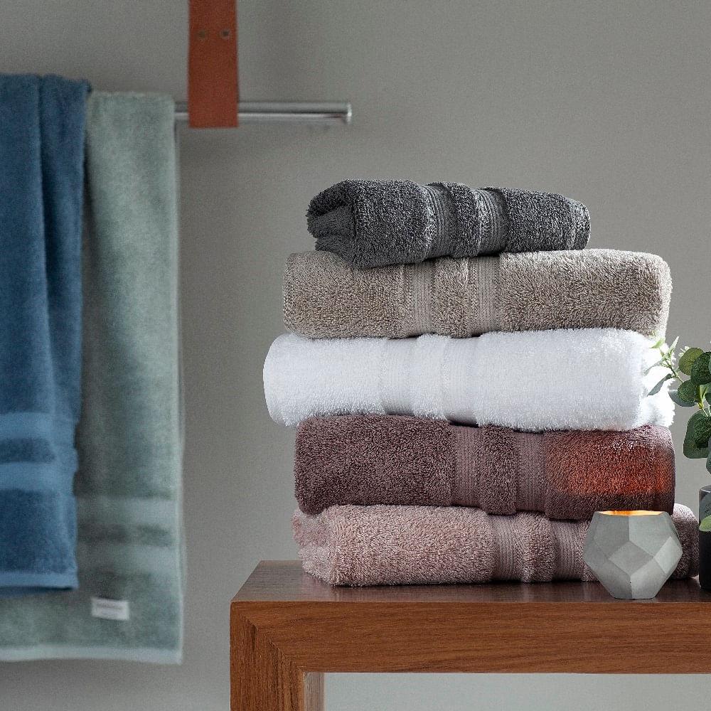 jogo de toalhas de banho buddemeyer 5 peças algodão egípcio azul 4010