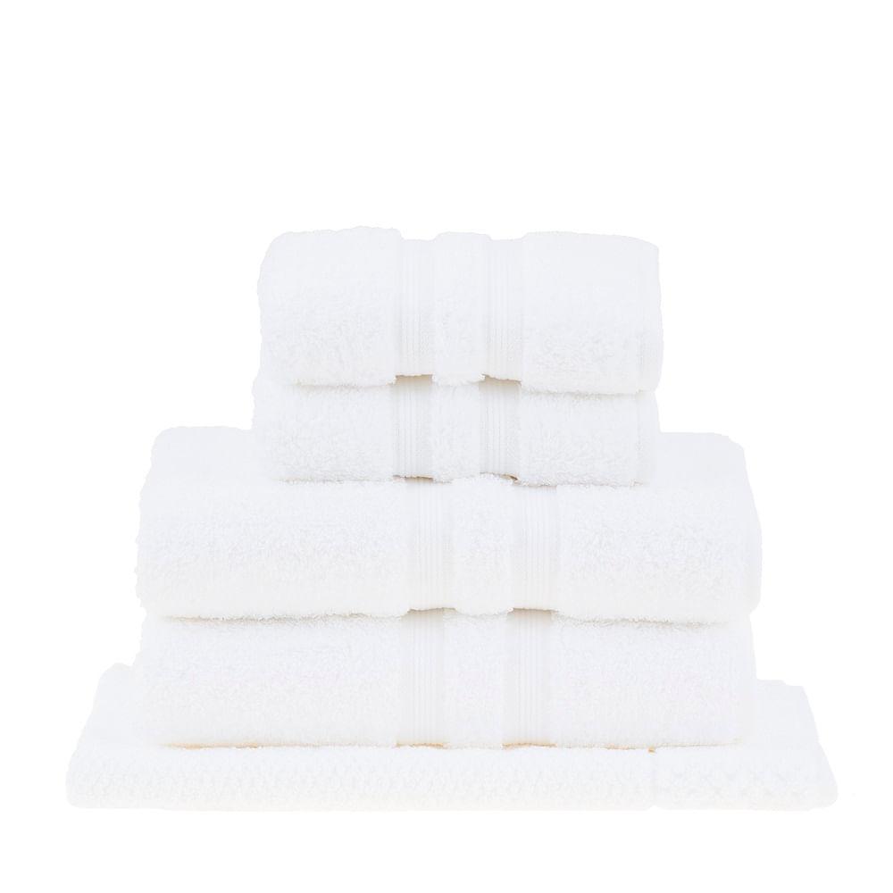 jogo de toalhas de banho buddemeyer 5 peças algodão egípcio branco