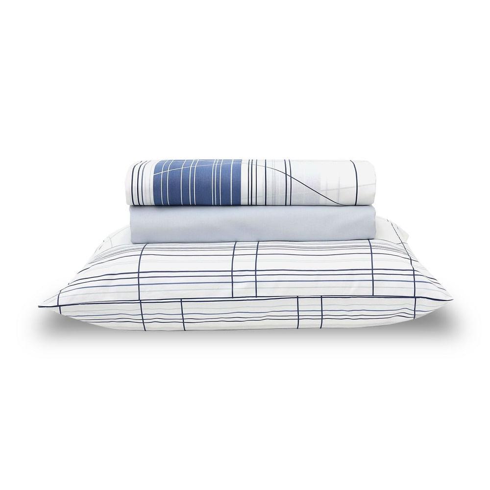 jogo de cama solteiro santista home design 100% algodão graphic