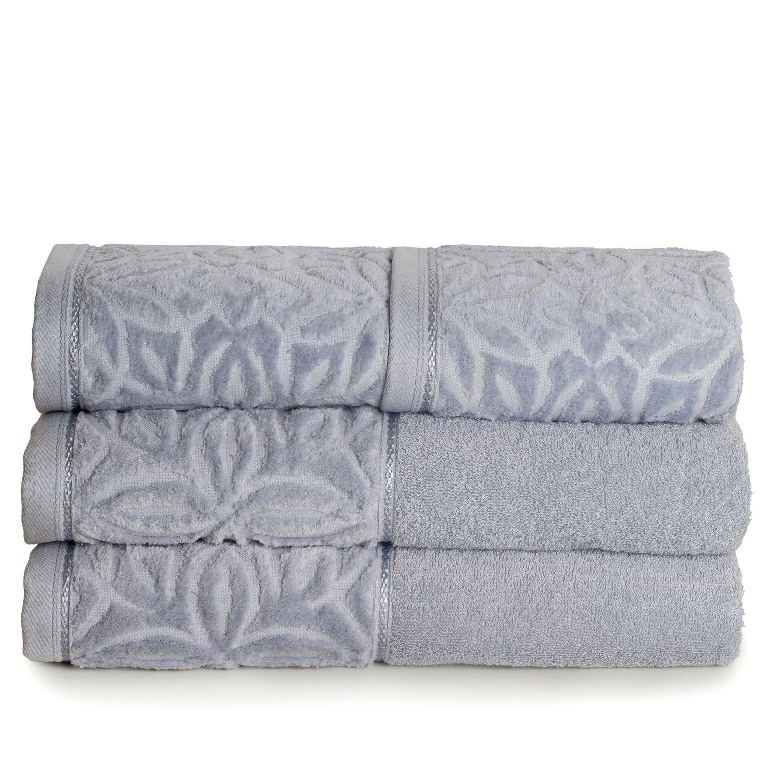 jogo toalhas banho santista 4p platinum ligia azul