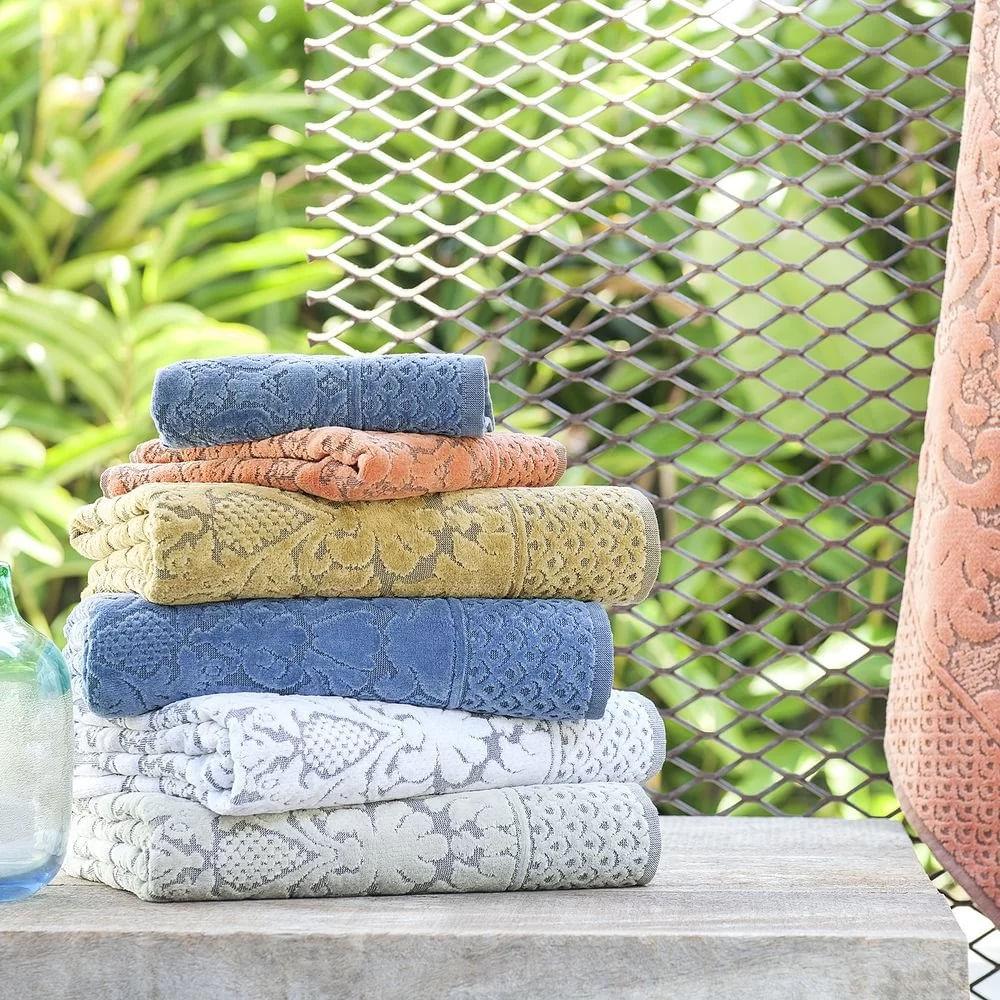 jogo de toalhas de banho buddemeyer 5 peças collona gigante azul