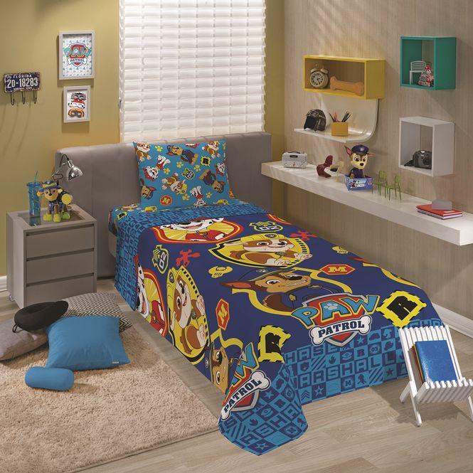 jogo cama infantil lepper 3p microfibra patrulha canina