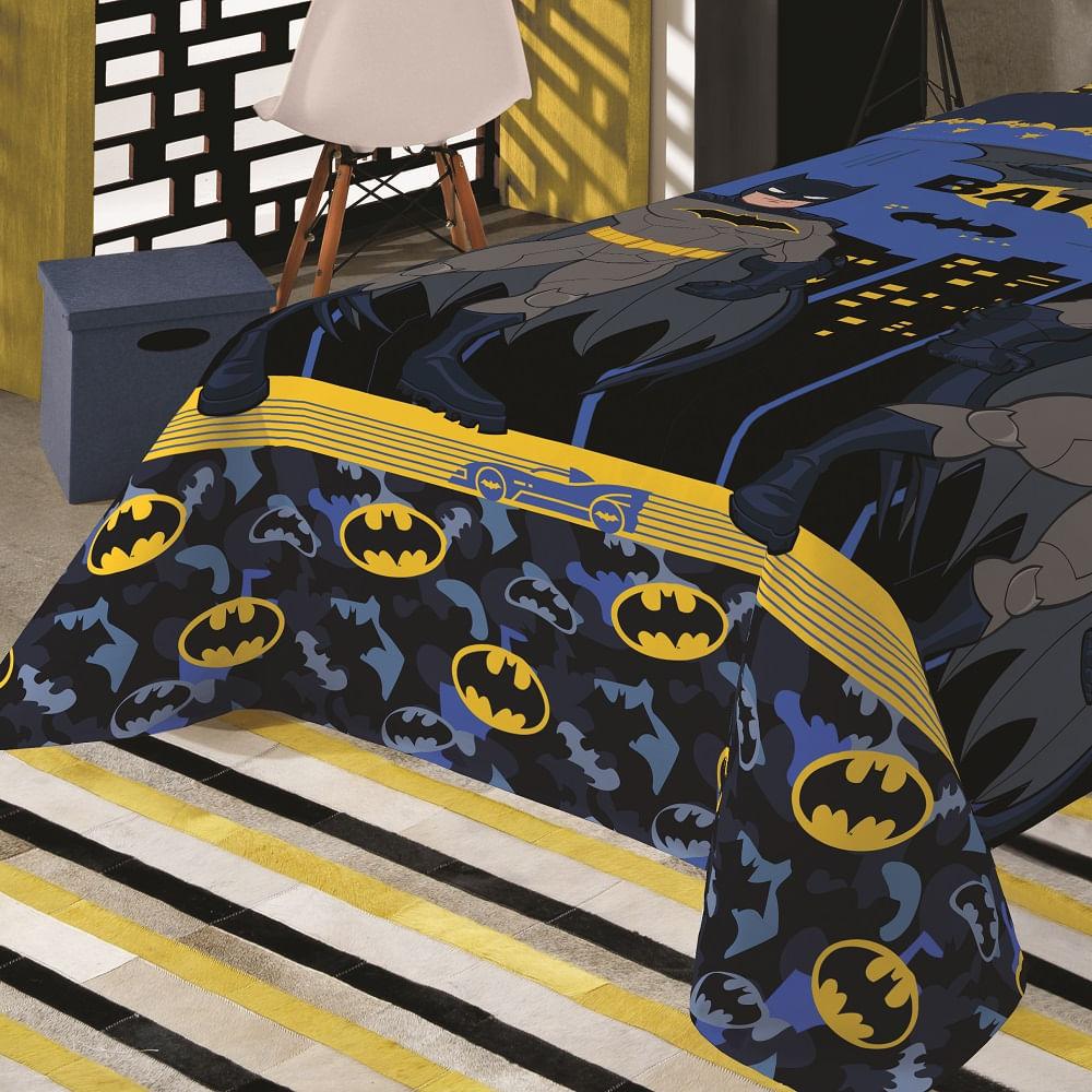 jogo de cama infantil lepper 3 peças microfibra batman