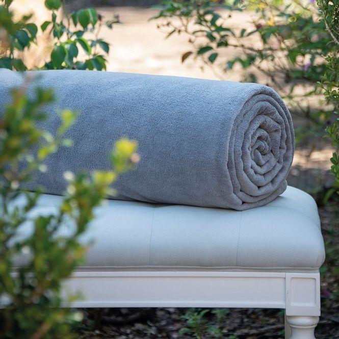cobertor solteiro scavone microfibra soft cinza