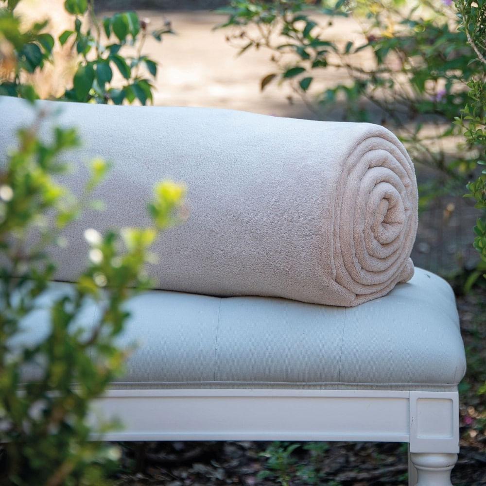cobertor solteiro scavone microfibra soft caqui
