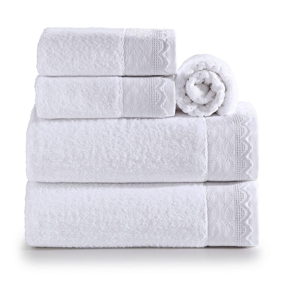 jogo de toalhas de banho artex 5 peças le bain noiva