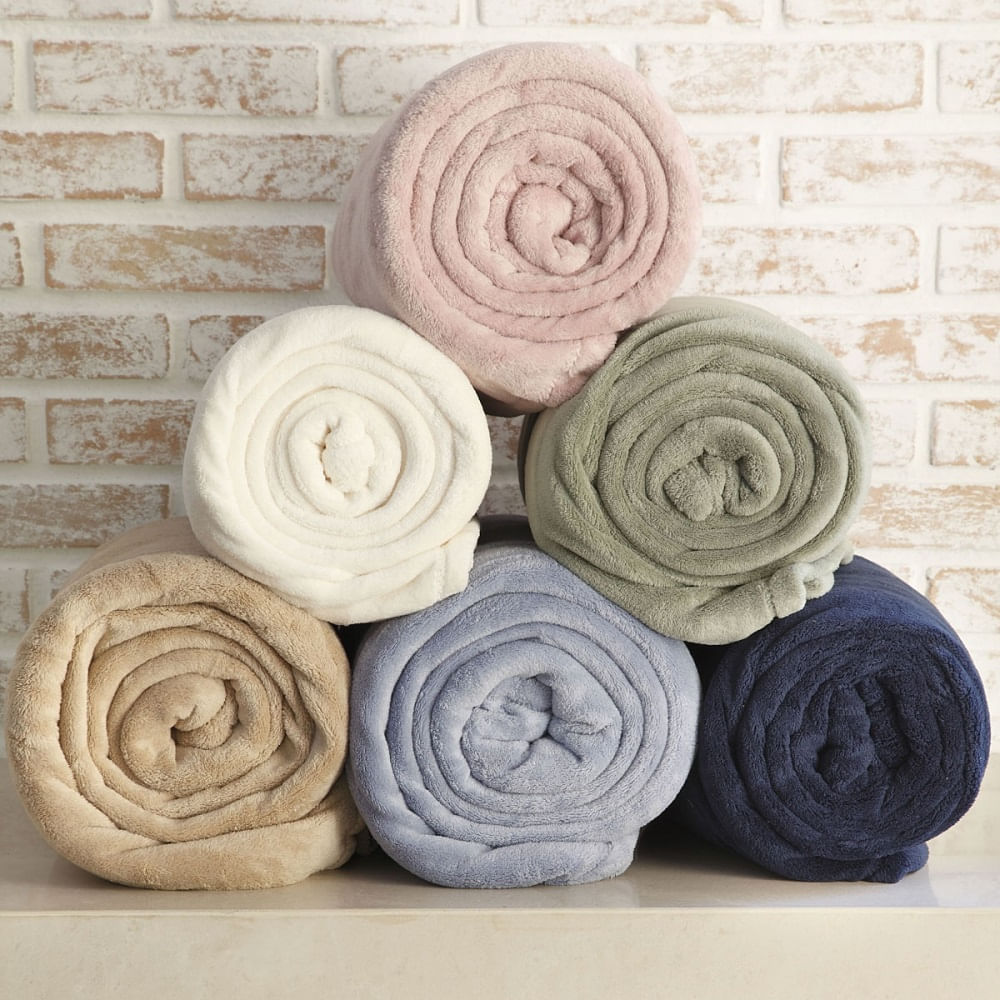 cobertor king scavone microfibra soft cinza