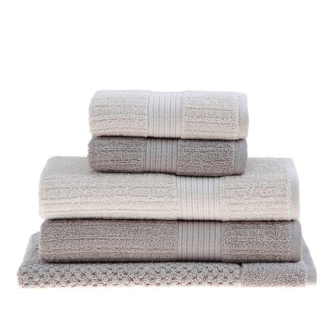 jogo toalhas banho buddemeyer 5p fio penteado bege 098