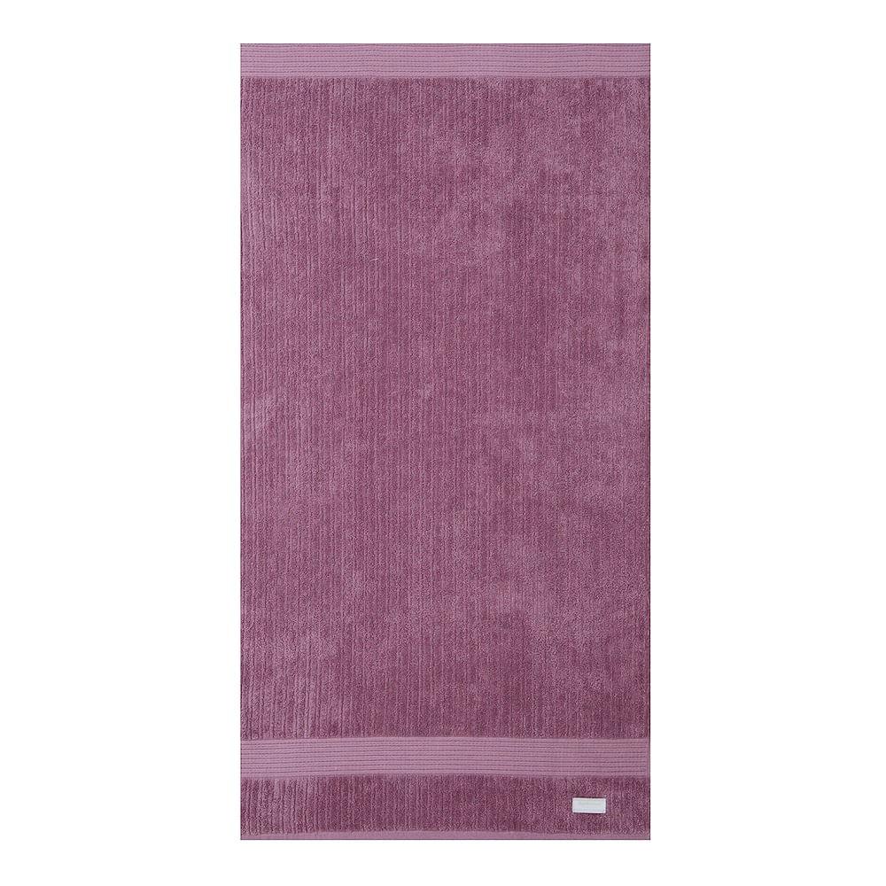 jogo de toalhas de banho buddemeyer 5 peças fio penteado canelado rosa 0100