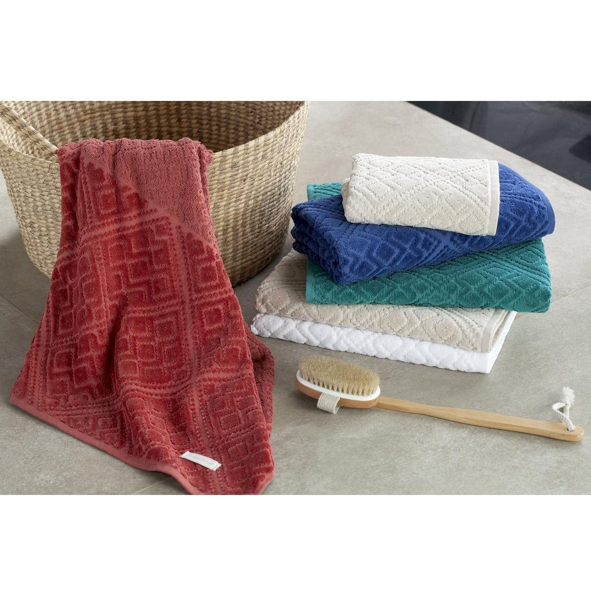 jogo de toalhas de banho buddemeyer 5 peças bristol branco