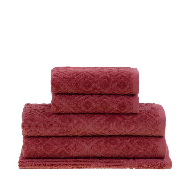 jogo de toalhas de banho buddemeyer 5 peças bristol goiaba