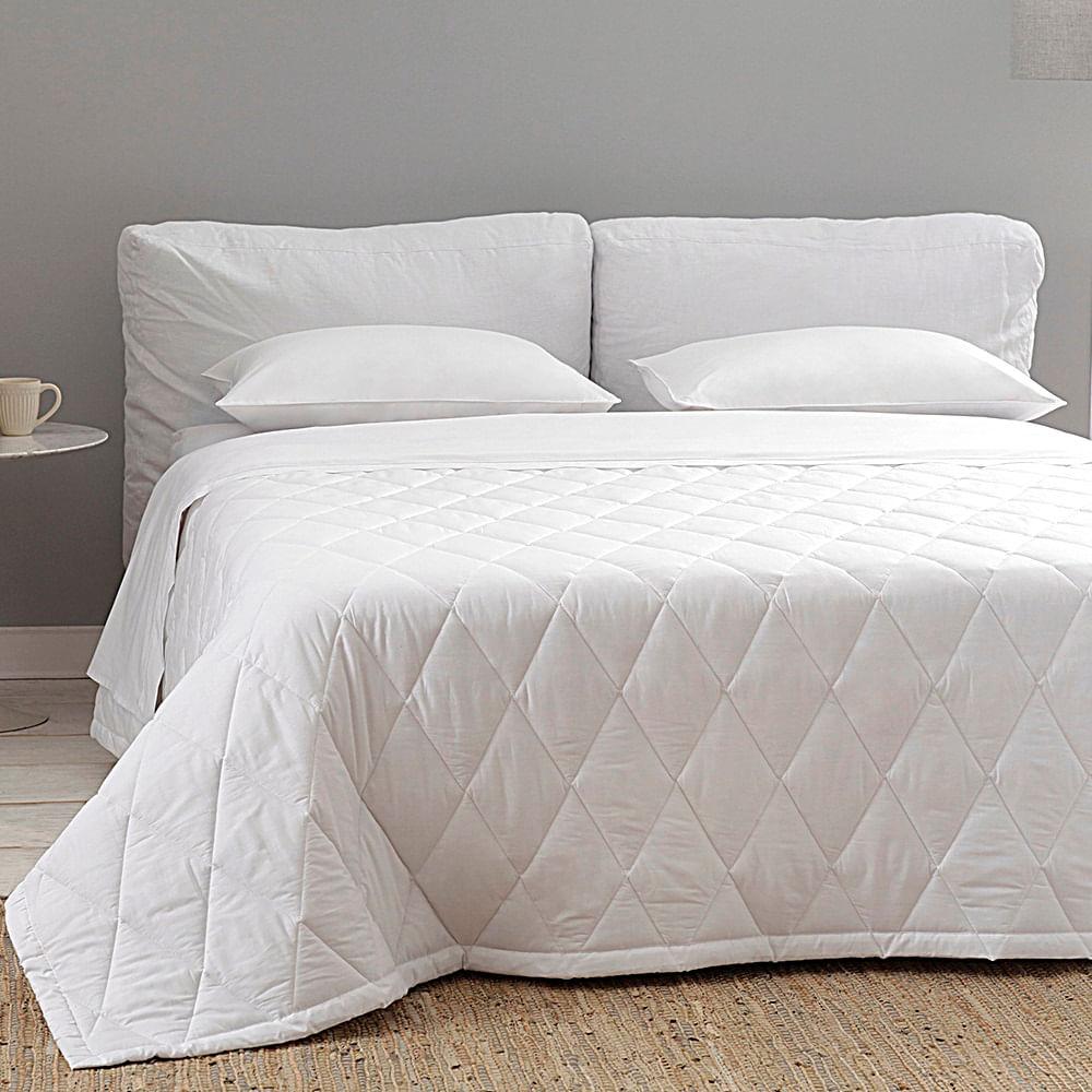 jogo de cama queen buddemeyer 180 fios 100% algodão basic percalle branco