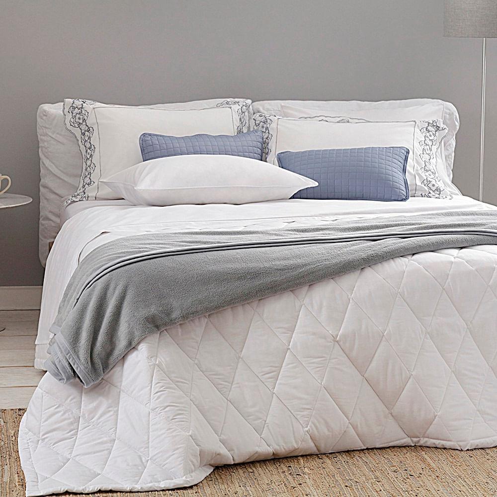 jogo de cama king buddemeyer 180 fios 100% algodão basic percalle branco