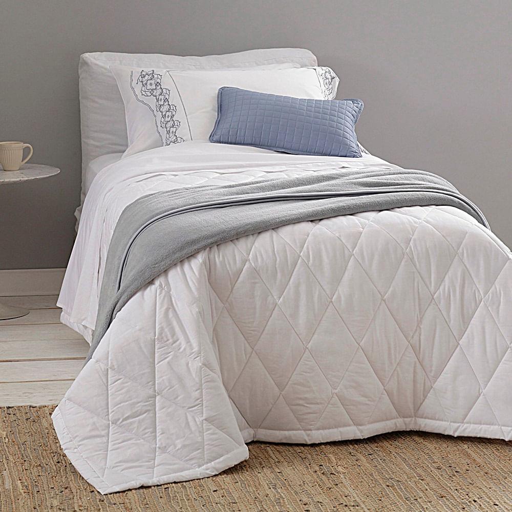 jogo de cama solteiro buddemeyer 180 fios 100% algodão basic percalle branco