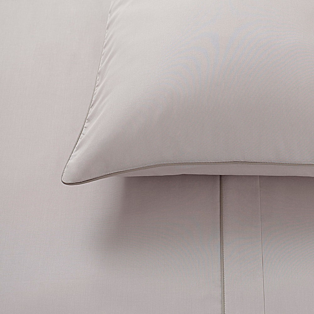 jogo de cama queen buddemeyer 180 fios 100% algodão basic percalle kaki