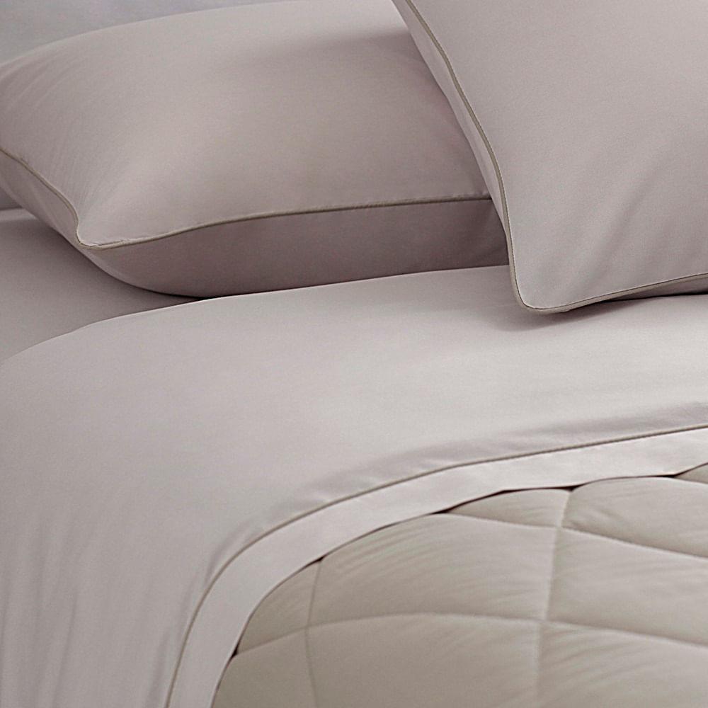 jogo de cama solteiro buddemeyer 180 fios 100% algodão basic percalle kaki