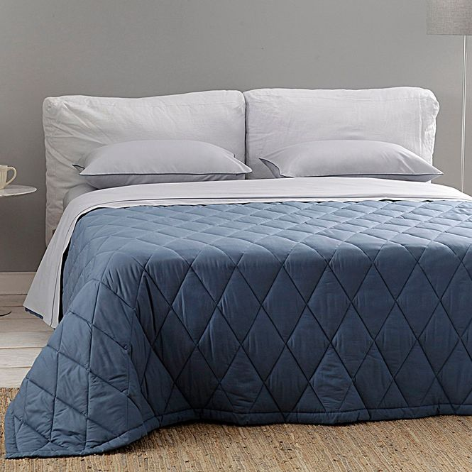 jogo cama casal buddemeyer 180 fios basic percalle azul