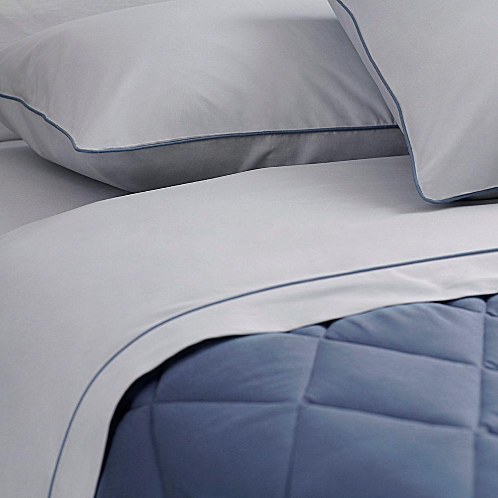 jogo de cama king buddemeyer 180 fios 100% algodão basic percalle azul