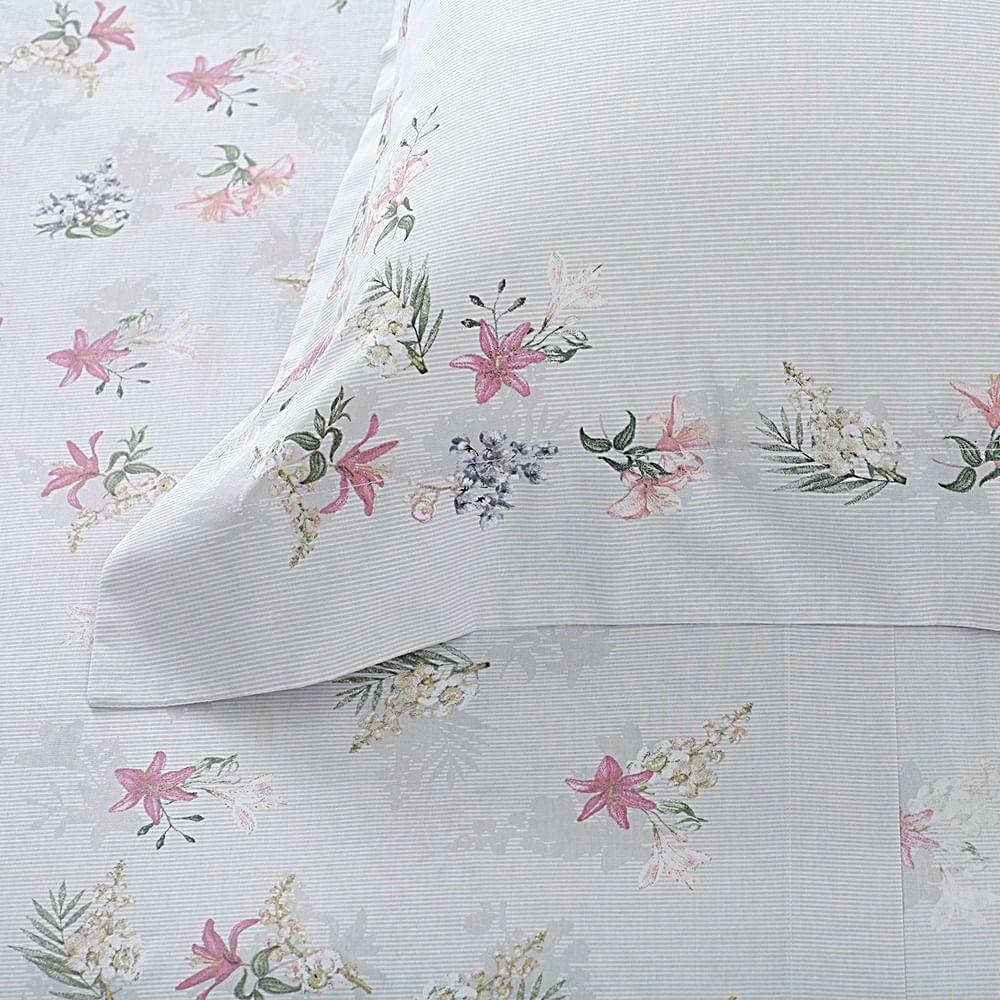 jogo de cama queen buddemeyer 180 fios 100% algodão percalle stela