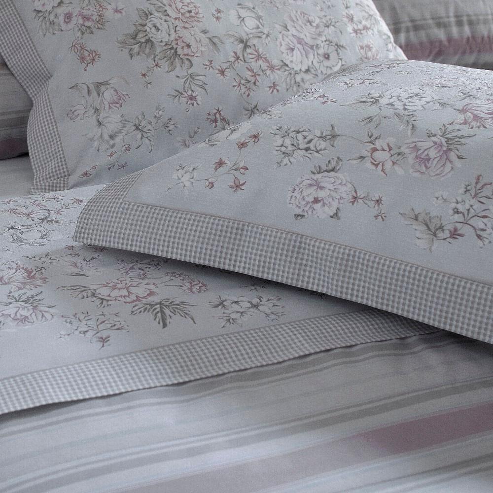 jogo de cama solteiro buddemeyer 180 fios 100% algodão percalle geneva