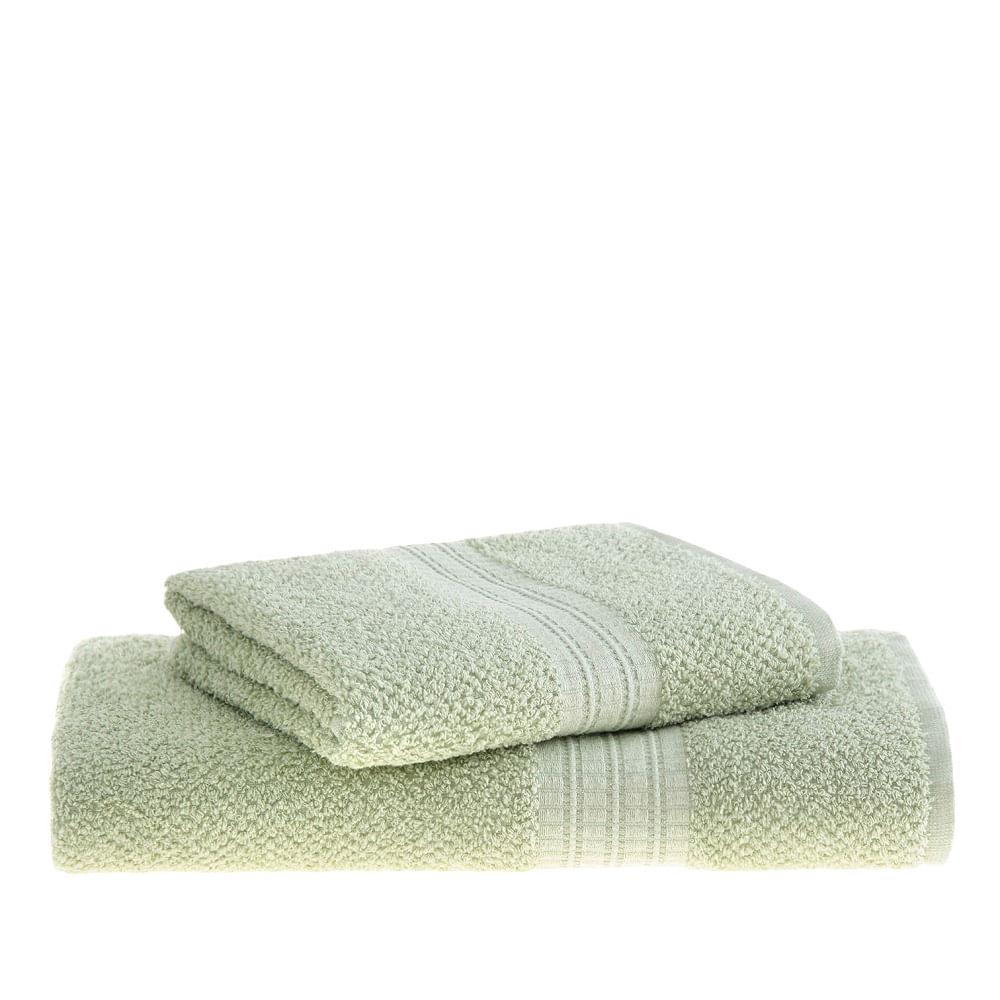jogo de toalhas de banho buddemeyer 2 peças frape verde 1861